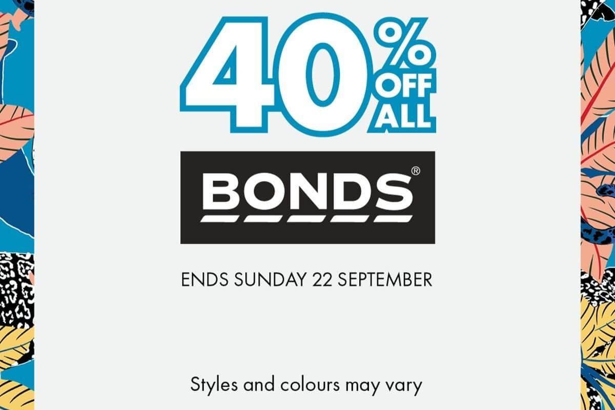40% off all Bonds