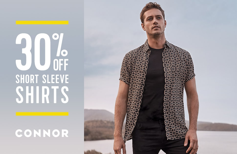 30% off all short sleeve shirts