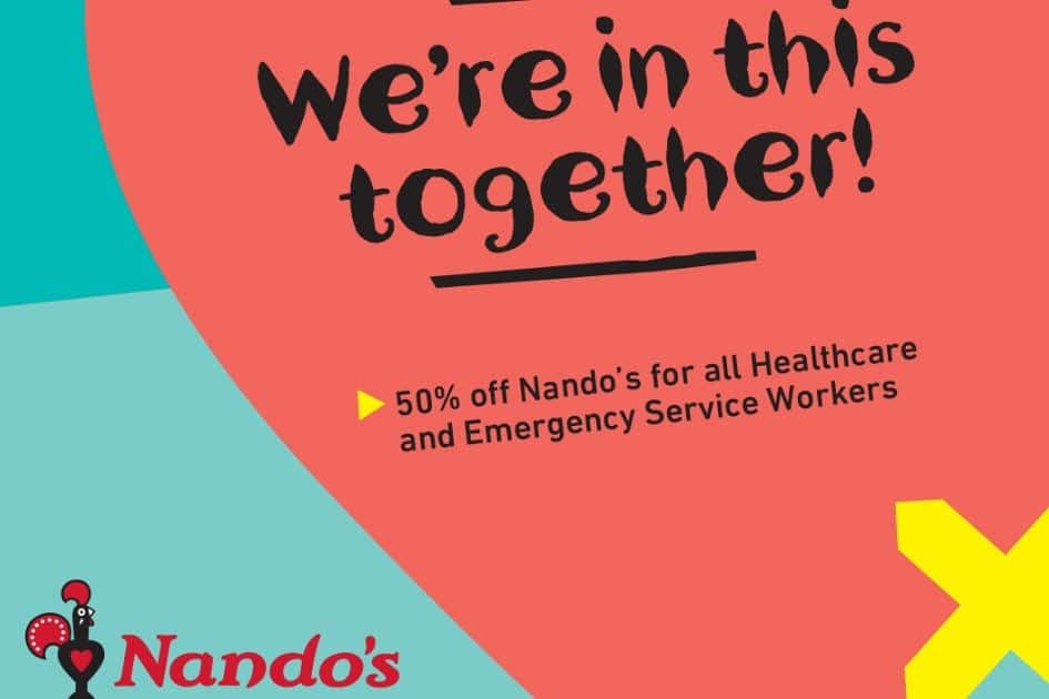50% off Nando's for all Heathcare & Emergency Service Workers