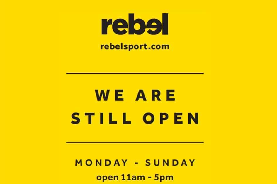 Rebel Sport is Open!