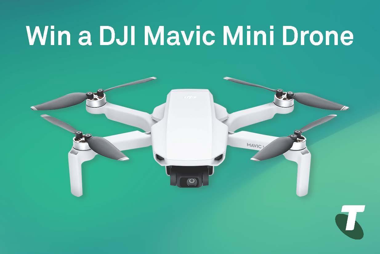 Want to win a DJI Mavic Drone Mini valued at $599?