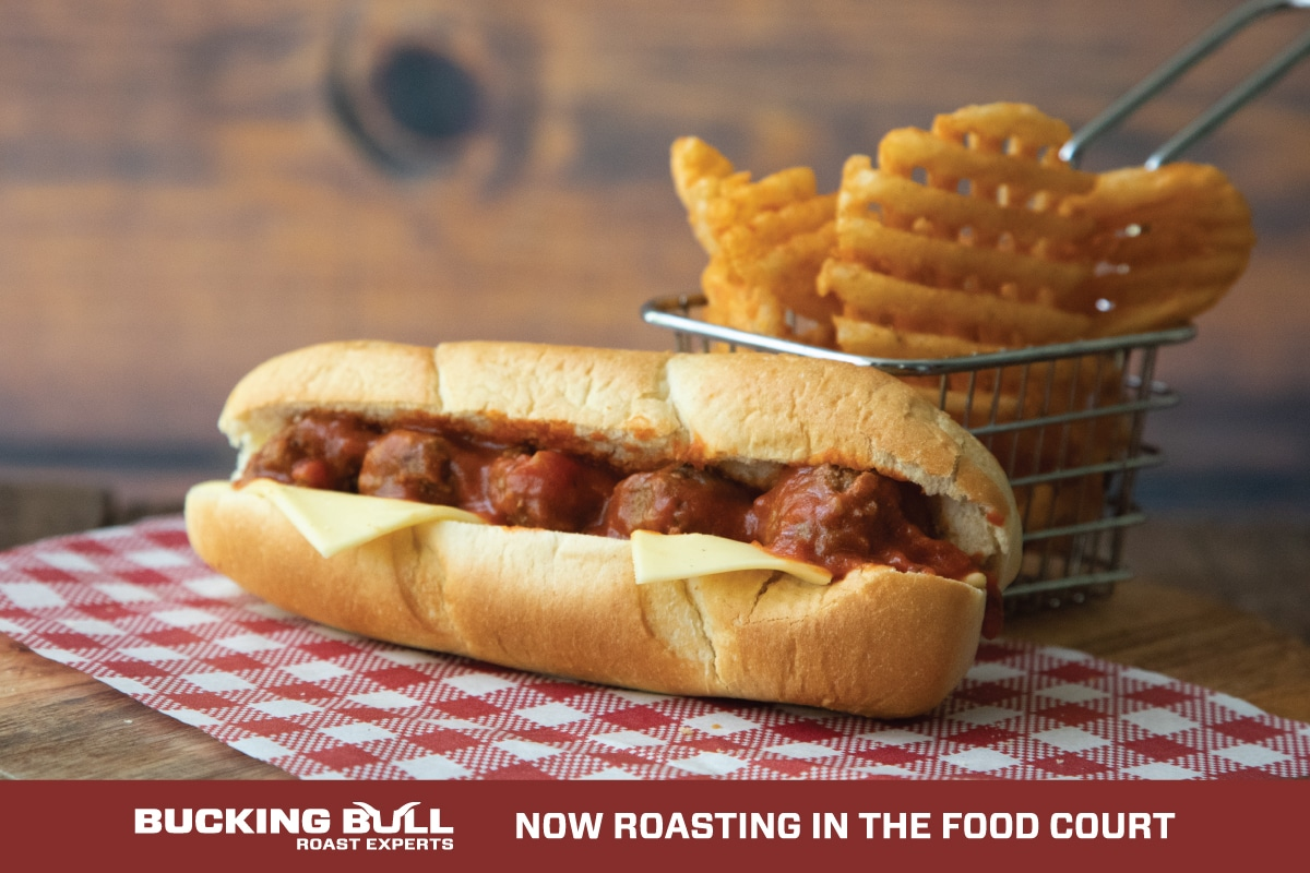 Introducing the Bull-issimo Meatball Sub with Waffle Fries for just $10