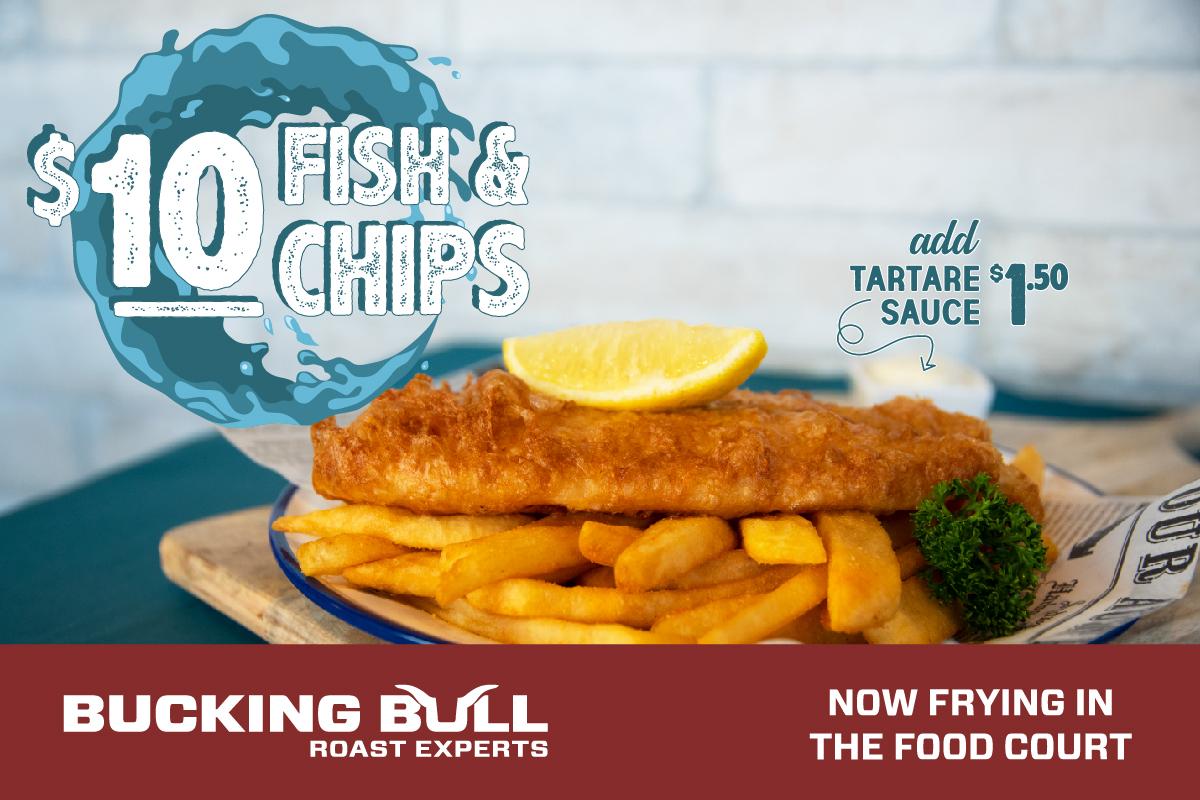 Bucking Bull's $10 Fish & Chips!