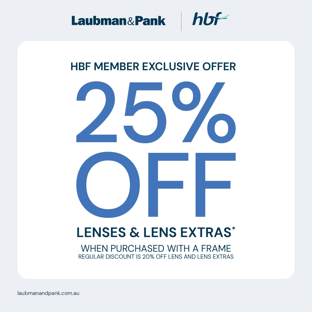 HBF Health Member Exclusive Offer at Laubman & Pank